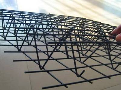 Two sheets of welded wire mesh are in outside and triangular shape rod are inside.