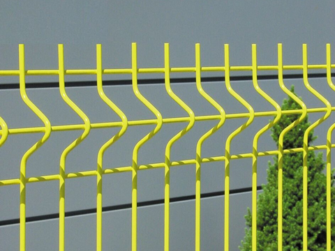 This is a yellow curvy fence panel.