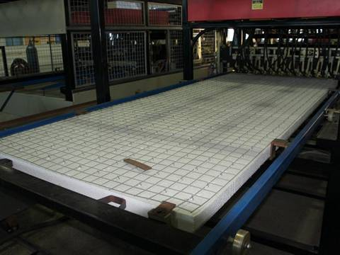 A 3D panel is produced by the machine in workshop.