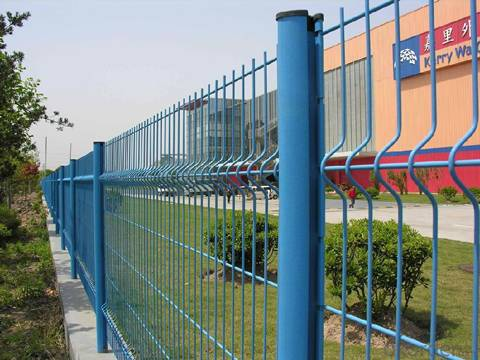 Curvy Fence Panel for Residential Area Garden Station and Parking Lot