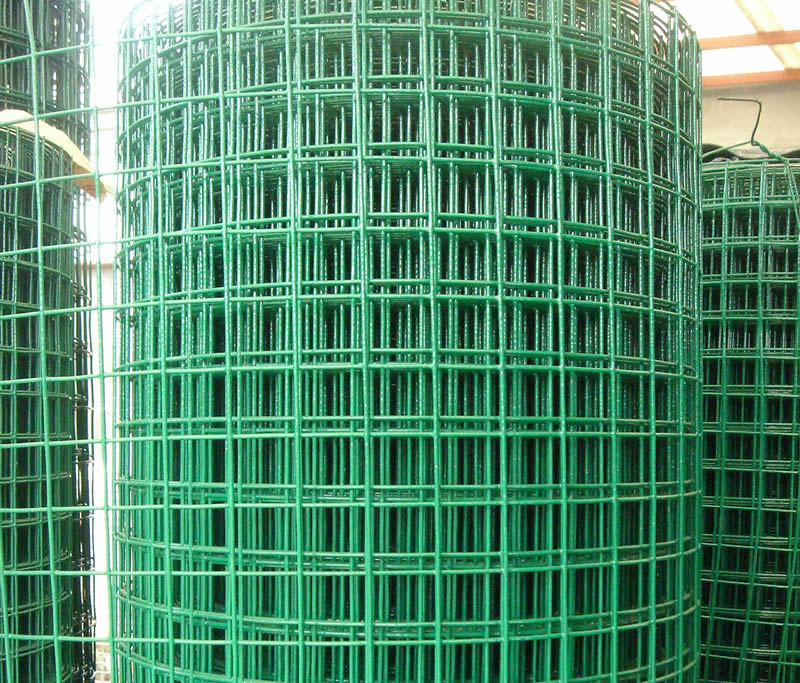 Pvc Coated Welded Wire Mesh In Green Color