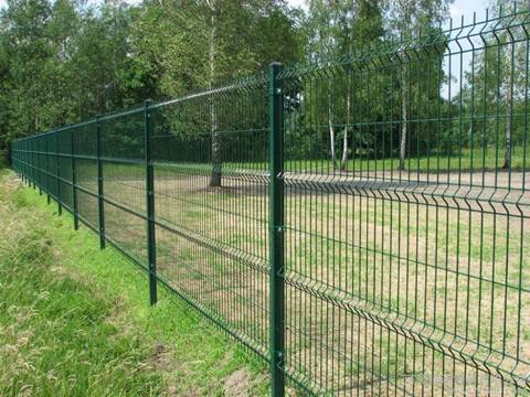 The PVC coated welded wire fence is in farm.